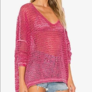 NWT Free People Napa Crochet Sweater